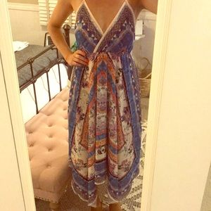 Beautiful Scarf Printed Midi Dress